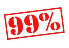 un timbro di gomma di 99 per cento Fotografia Stock