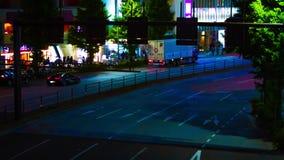 Un timelapse de la rue à la ville au néon dans l'inclinaison de Shinjuku Tokyo banque de vidéos