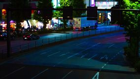 Un timelapse de la rue à la ville au néon dans Shinjuku Tokyo banque de vidéos