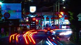 Un timelapse de la rue du centre à l'avenue d'Oume dans le long bourdonnement d'exposition de Tokyo banque de vidéos