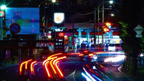 Un timelapse de la rue du centre à l'avenue d'Oume dans le long bourdonnement d'exposition de Tokyo clips vidéos