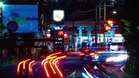 Un timelapse de la rue du centre à l'avenue d'Oume dans la longue cuisson d'exposition de Tokyo clips vidéos