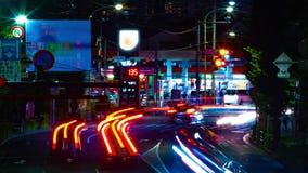 Un timelapse de la rue du centre à l'avenue d'Oume dans la longue inclinaison d'exposition de Tokyo banque de vidéos