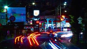 Un timelapse de la rue du centre à l'avenue d'Oume dans la longue inclinaison d'exposition de Tokyo clips vidéos