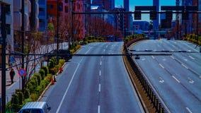 Un timelapse de la rue de ville au centre ville dans l'inclinaison de jour de Tokyo clips vidéos