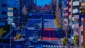 Un timelapse de la rue de ville au centre ville dans l'inclinaison de jour de Tokyo banque de vidéos