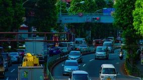 Un timelapse de rue du centre à l'avenue de Kanpachi dans l'inclinaison de jour de possibilité éloignée de Tokyo banque de vidéos