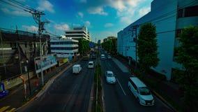 Un timelapse de rue du centre à l'avenue de Kanpachi dans l'inclinaison tirée large de jour de Tokyo clips vidéos
