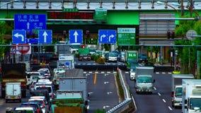 Un timelapse de rue de voiture à l'avenue de Kanpachi dans l'inclinaison de jour de Tokyo clips vidéos