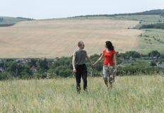Un tipo e una ragazza Fotografie Stock