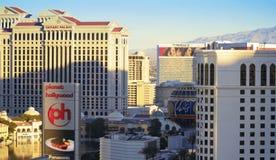 Un tir de Las Vegas Blvd de début de la matinée Images libres de droits