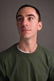 Headshot masculin caucasien recherchant Photographie stock