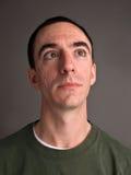 Headshot masculin caucasien recherchant Images libres de droits