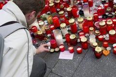 Un tirante che dà un tributo a Vaclav Havel Fotografia Stock Libera da Diritti