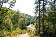 Un tiro del camino un valle Imagen de archivo