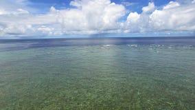 Un tiro del horizonte del ` s del océano almacen de video