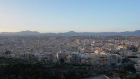 Un tiro del steadicam del panorama de Alicante almacen de metraje de vídeo