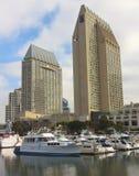 Un tiro magnífico de Hyatt Manchester, San Diego fotos de archivo libres de regalías