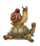 Un Tirtle, un escargot et une coccinelle Image stock