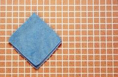 Un tissu bleu Images libres de droits