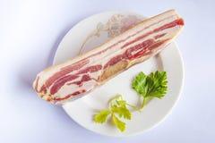 Un tocino (viento de la carne del vientre de cerdo, carne del viento, tocino) Imagenes de archivo