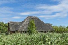 Un toit d'un chapeau couvert de chaume Photo libre de droits