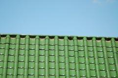 Un toit vert-carrelé à Portland, Orégon Photographie stock