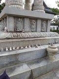 Un tombeau bouddhiste en Corée Images libres de droits