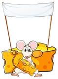 Un topo che mangia sotto l'insegna vuota royalty illustrazione gratis