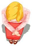 Un topview d'une dame s'asseyant Photo libre de droits