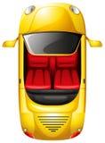 Un topview d'une voiture jaune Photos libres de droits