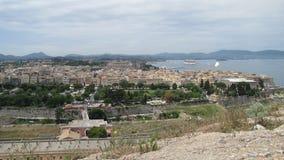 Un topview de la ciudad de Corfú, Grecia Foto de archivo libre de regalías