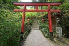 Un torii es un japonés tradicional Imágenes de archivo libres de regalías