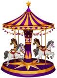 Un tour de carrousel illustration de vecteur