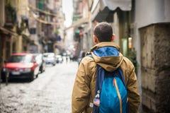 Un touriste à Naples Images stock
