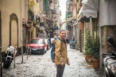 Un touriste à Naples Photographie stock libre de droits