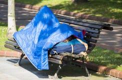 Un touriste fatigué Photos libres de droits