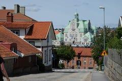 Un townhall suédois images stock