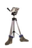 Un trípode está en calcetines Fotografía de archivo libre de regalías