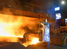 Un trabajador de acero Imágenes de archivo libres de regalías