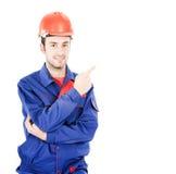 Un trabajador de construcción de sexo masculino Fotografía de archivo libre de regalías