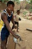 Un trabajador en Rwanda. Imágenes de archivo libres de regalías