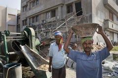 Un trabajo indio de la construcción Fotografía de archivo
