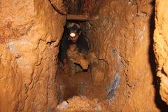 Un tradicional la minería aurífera imágenes de archivo libres de regalías