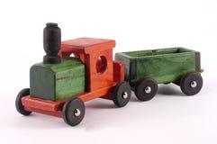 Un train en bois lumineux de jouet Images libres de droits