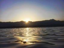 Un tramonto Fotografia Stock