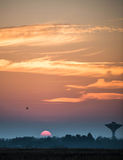 Un tramonto Fotografie Stock Libere da Diritti