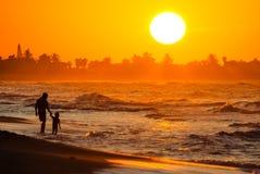 Un tramonto caraibico Fotografia Stock
