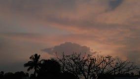 Un tramonto del villaggio Immagini Stock