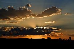 Un tramonto del Wyoming Fotografia Stock Libera da Diritti